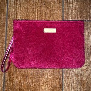 Pink Fuzzy Ipsy Makeup Bag